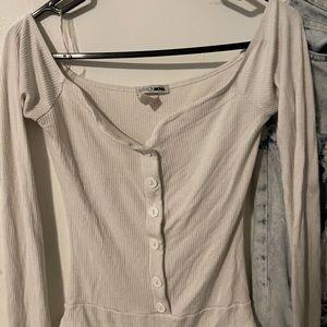 Fashion nova bodysuit white